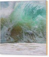 Sandy Beach Surf Wood Print