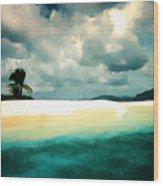 Sandy Cay Wood Print