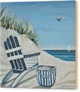 Sandy Cove Wood Print