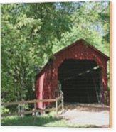Sandy Creek Bridge Wood Print