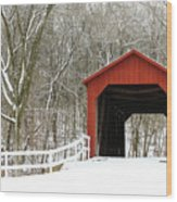 Sandy Creek Covered Bridge Wood Print
