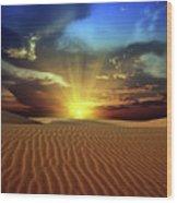 Sandy Desert Wood Print