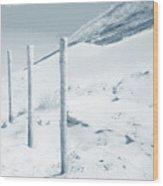 Sandy Dunes. Series Ethereal Blue Wood Print