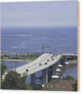 Sandy Hook Bridge Wood Print