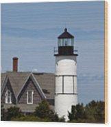Sandy Neck Light  Barnstable Cape Cod Massachusetts Wood Print