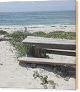 Sandy Picnic Table Wood Print