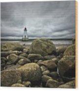 Sandy Point Lighthouse Wood Print
