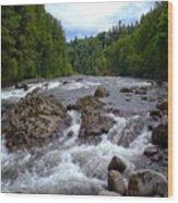 Sandy River Wood Print