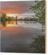 Sandy River Sunset Wood Print