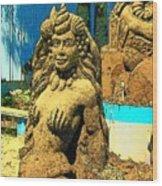 Sandy The Mermaid Wood Print
