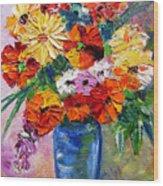 Sandy's Flowers Wood Print