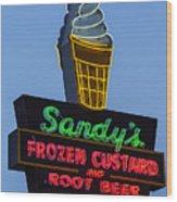 Sandys Frozen Custard - Austin Wood Print