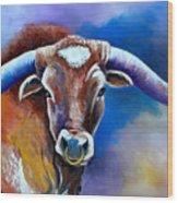 Sandy's Longhorn Bull Wood Print