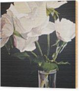 Sandys Roses Wood Print