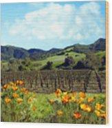 Sanford Ranch Vineyards Wood Print by Kurt Van Wagner