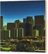 Sanfrancisco Sky Line Wood Print