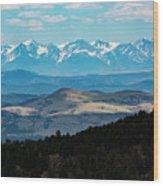 Sangre De Cristo And Collegiate Peaks Wood Print