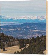 Sangre De Cristo Mountain Valley Wood Print