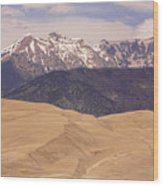 Sangre De Cristo Mountains And The Great Sand Dunes Wood Print