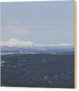 Sangre De Cristo Mountains From Bald Mountain Colorado Wood Print