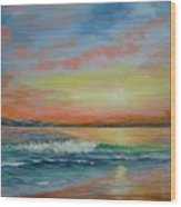 Sangria Beach Wood Print