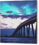 Sanibel Causeway Bridge Wood Print
