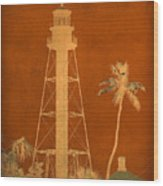 Sanibel Island Lighthouse Wood Print