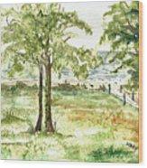 Sanibel Shores Sketch Wood Print