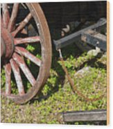 Sanibel Village Wagon Wheels Wood Print