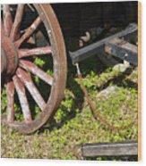 Sanibel Village Wagon Wheels Wood Print