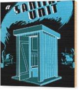 Sanitary Unit Fap Poster Wood Print