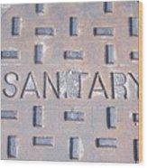 Sanitation Drain  Wood Print