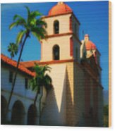 Sannta Barbara Mission Wood Print