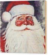 Santa 1 Wood Print