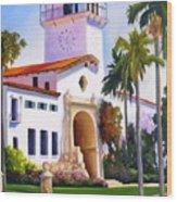Santa Barbara Court House Wood Print