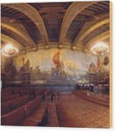 Santa Barbara Court House Mural Room Photograph Wood Print by Brian Lockett