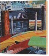 Santa Barbara Harbor Wood Print