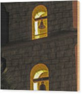 Santa Barbara Mission Bell Tower Wood Print