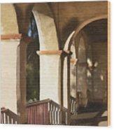 Santa Barbara Mission Wood Print