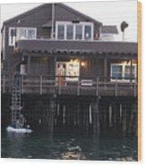 Santa Barbara Pier At Dusk Wood Print