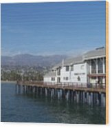 Santa Barbara Pier Wood Print