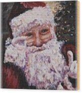 Santa Chat Wood Print