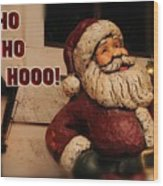 Santa Claus Christmas Card Wood Print