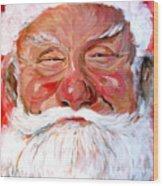 Santa Claus Wood Print by Tom Roderick