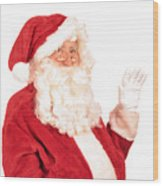 Santa Claus Waving Hand Wood Print