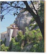 Santa Cova Monserratt Spain Wood Print