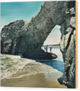 Santa Cruz Beach Arch Wood Print