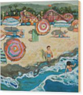 Santa Cruz Beach Boardwalk Wood Print