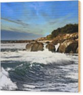 Santa Cruz Coastline Wood Print