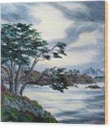 Santa Cruz Cypress Tree Wood Print